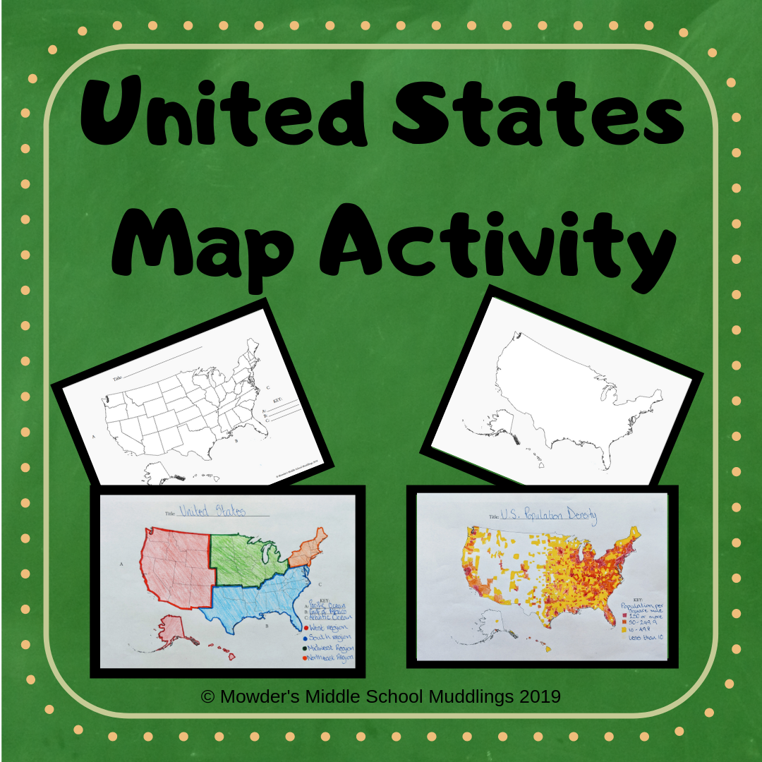 United States Geography Map Activity