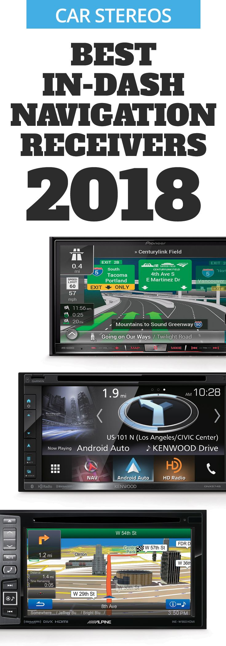 Best indash navigation stereos for 2020 Pioneer car