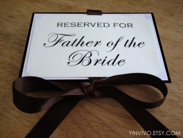 Reserved Seating Signs Use Futura The Cursive Font We Used For Invitations