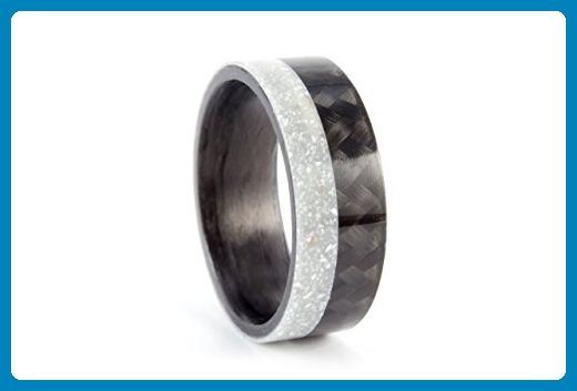 Menu0027s Aurora Corian And Carbon Fiber Ring. Confortable And Original Wedding  Ring. Water Resistant