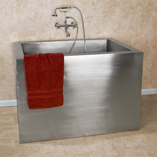 Stainless Steel Japanese Soaking Tub. 48  Amery Brushed Stainless Steel Soaking Tub Japanese style Tubs and steel