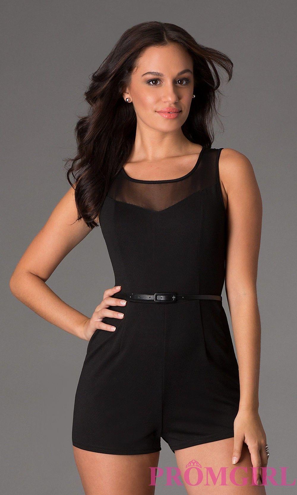 Short sleeveless romper holiday dresses fashionista