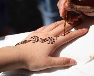 Inai Tangan Simple Gambar Henna Tangan Simple Corak Inai Henna Corak