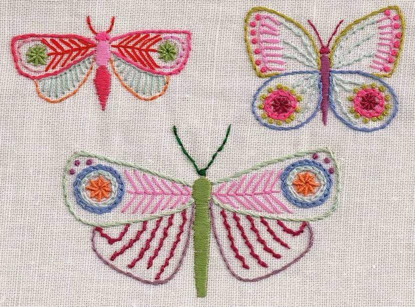 Set 1 bordado de la mariposa patrón de descarga | bordado-embroidery ...