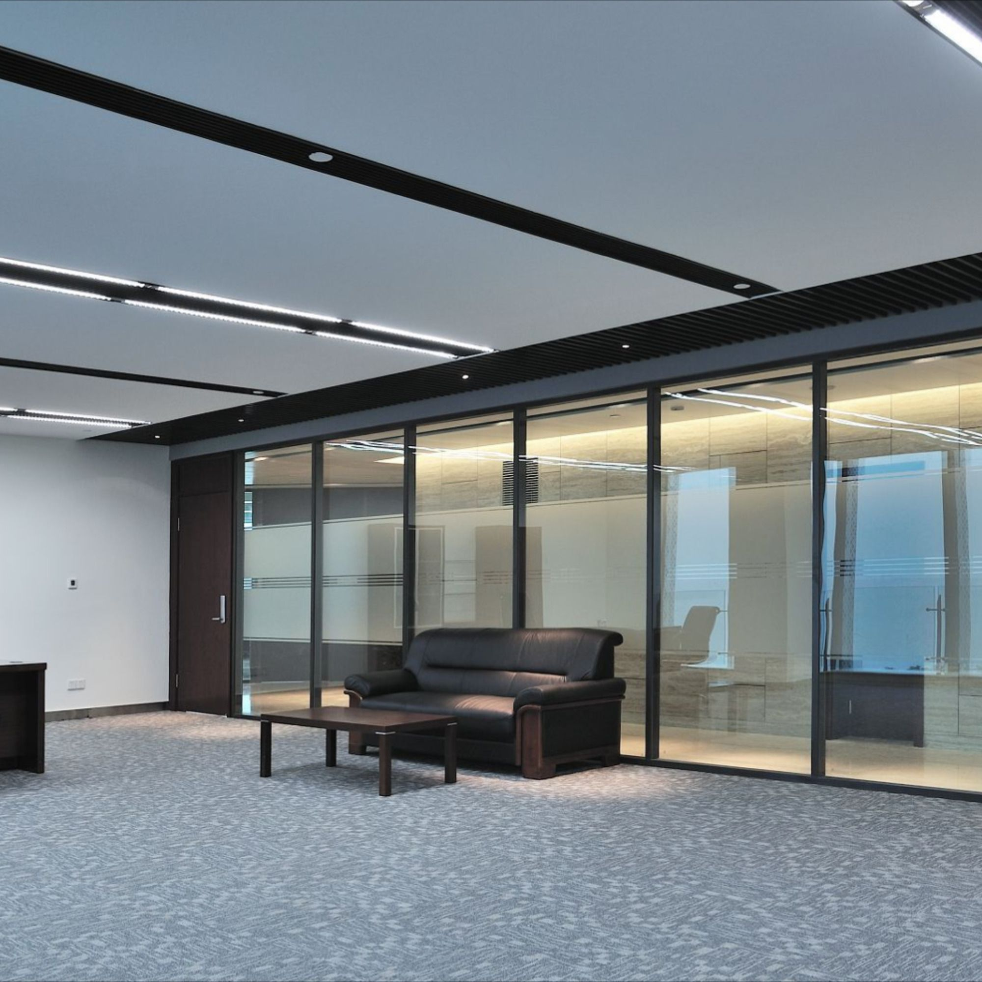 Alumina Glass Partition Wall Office Workstation Module Has Good