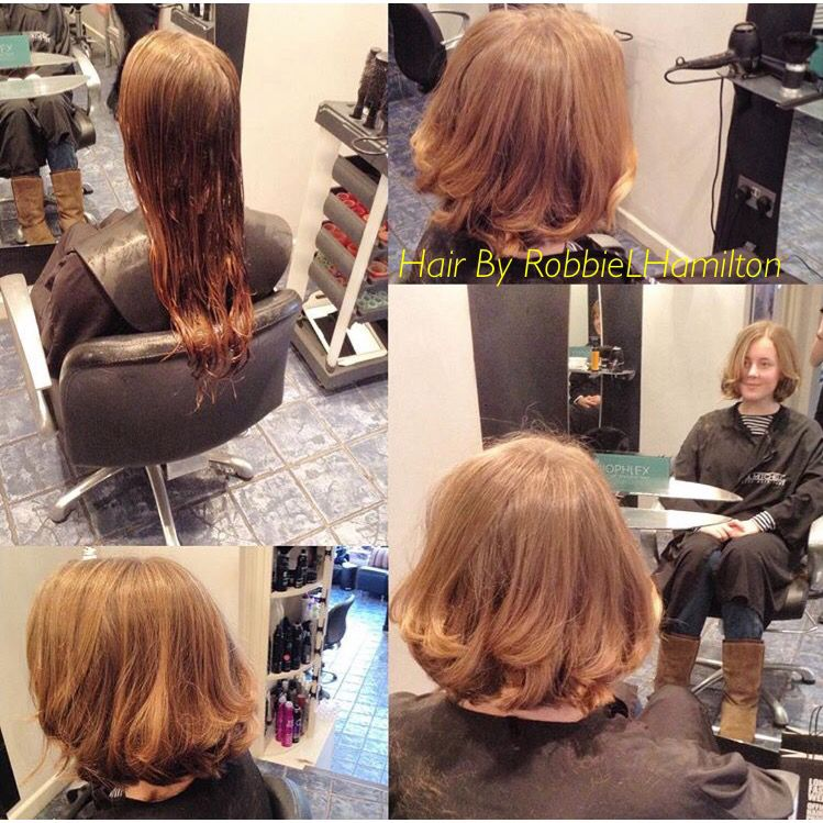 My lovely client went for the chop! From long hair to a long choppy bob