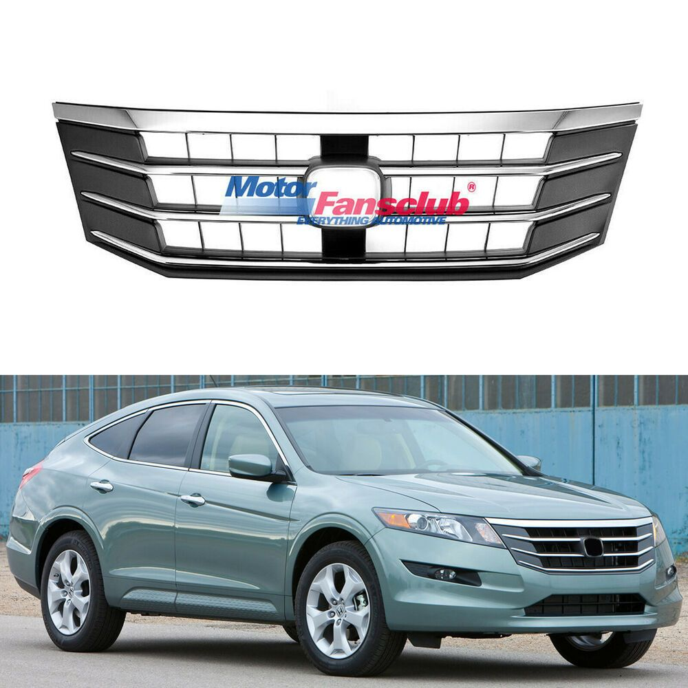 For 10 12 Honda Crosstour 2010 2012 Front Upper Mesh Grill Abs Chrome Grille Honda Crosstour Honda Grilles