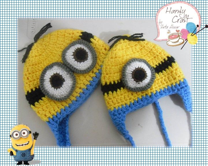 Crochet hat Gorro de Minion a crochet | Tejido ***Mi querida Sofía ...