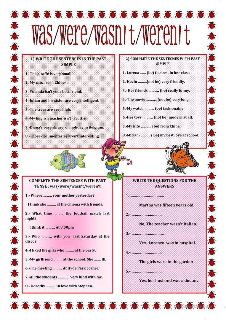 Past Simple Verb To Be Worksheet Free Esl Printable Worksheets Made By Teachers English Grammar Worksheets Simple Past Tense English Grammar [ 1079 x 763 Pixel ]