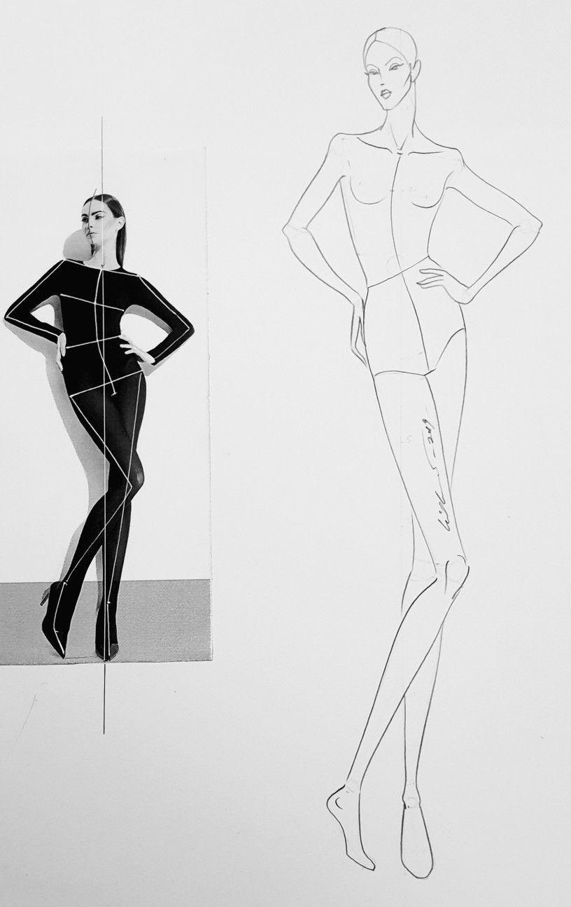 Female Figure Analysis 3 4th View Fashion Figure Drawing Fashion Painting Illustration Fashion Design