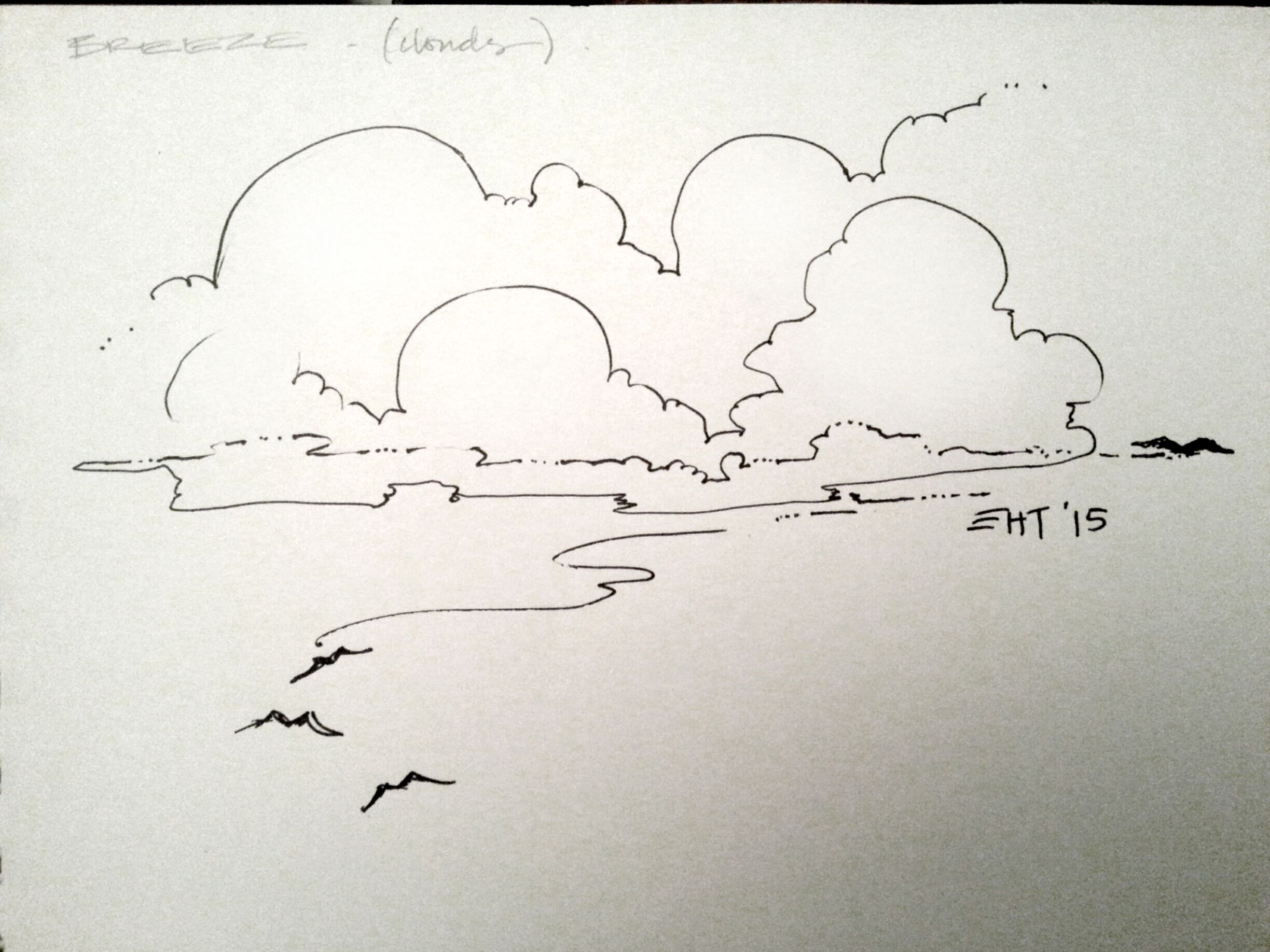 The Line Art Challenge Sketches For Days : Breeze day august drawing challenge