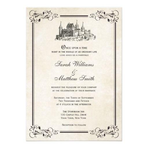 Fairytale Castle Wedding Invitations Castle Weddings Disney