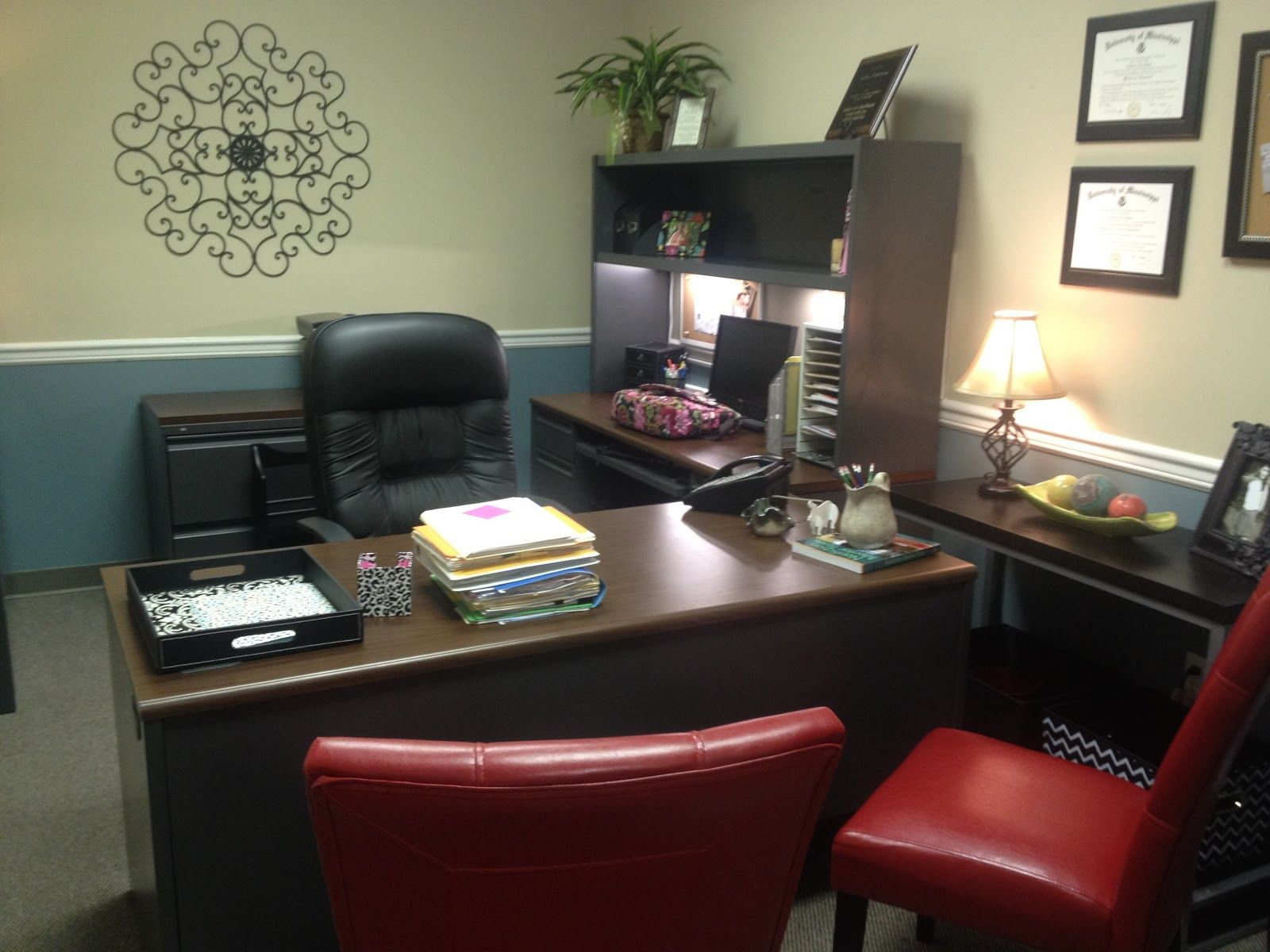 Office Decor Ideas The Principal's Office A Warm And Homey Makeover  $100 Homegoods