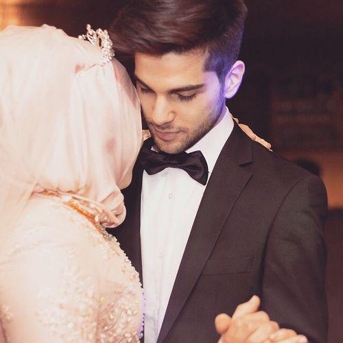 muslim, couple, and hijab resmi