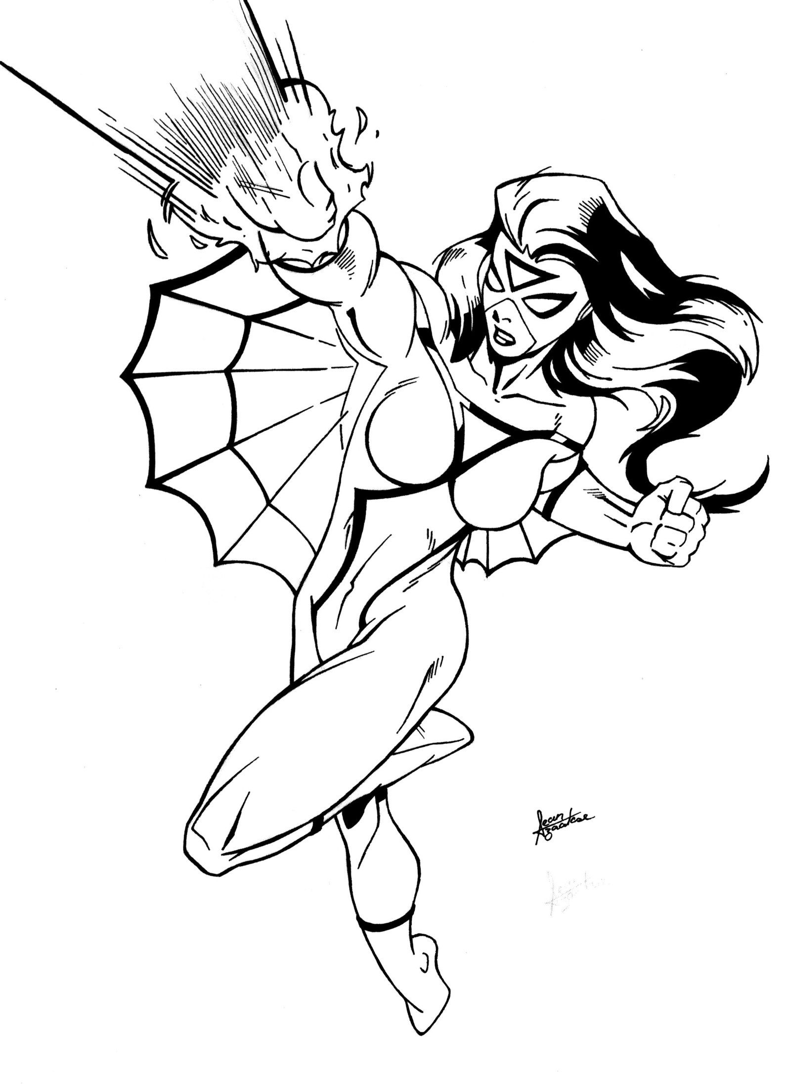 marvel girls coloring 11 Images of SpiderWoman Coloring Pages
