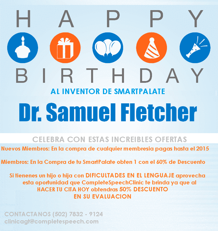 Happy Birthday Dr. Fletcher con esta celebracion hay grandes descuentos para TI!