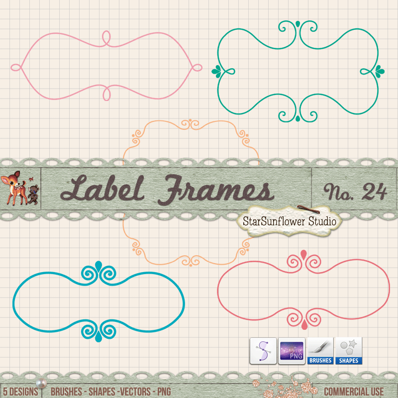 350+ Free Fabulous Labels, Borders and Frames | Hojas decoradas ...