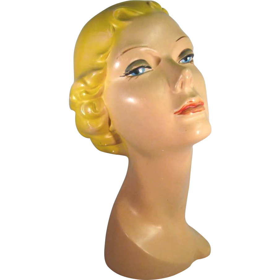 Vintage Mannequin Head All Original C 1930 1940s From Jggallery On Ruby Lane