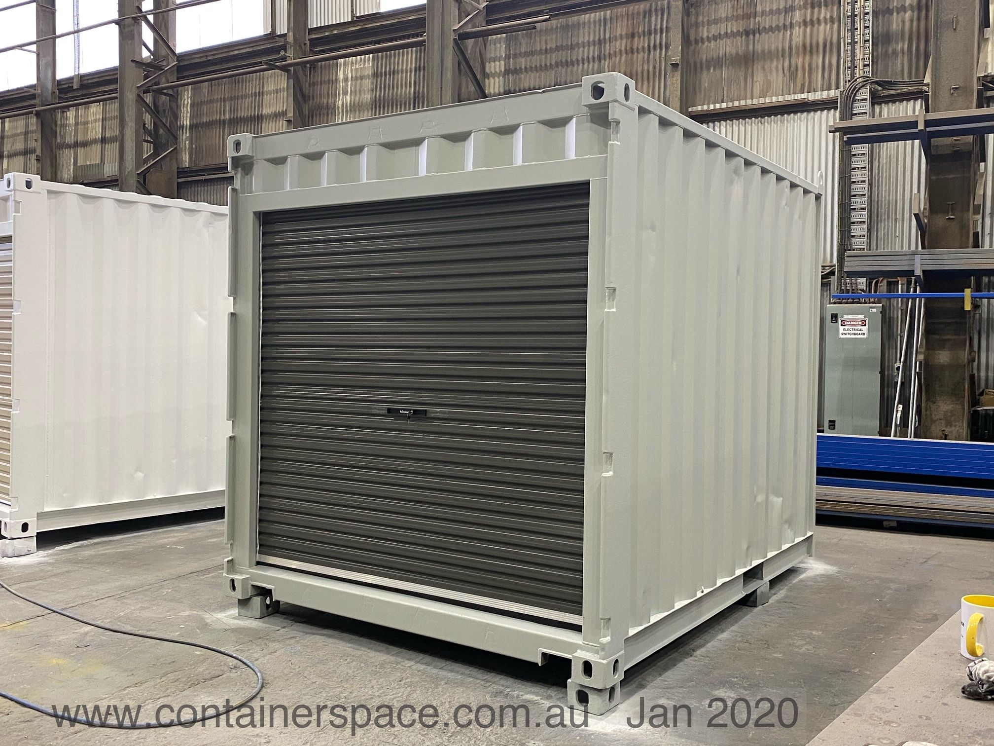 10 Ft Long And 8 Ft High With Rollup Door On Sale Call For Other Sizes Container House Shipping Container Sheds Shipping Container Homes