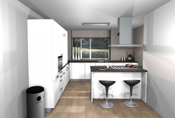 Met Keuken Kleine : Keuken met klein eiland en barretje huis küche