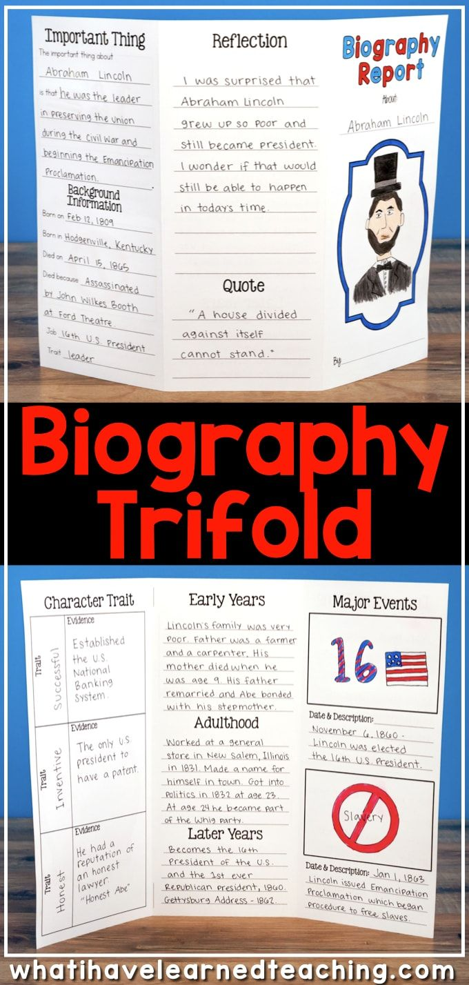 Use this for the biography description: This Biography Report that can be used for any historical person. It is great for a social studies biography unit or reading informational writing and research unit. It includes five different report options, lap book, interactive notebook, and construction paper person. Each option has a variety of pages from which to pick and choose. #biographyreport #socialstudies #secondgradesocialstudies #thirdgradesocialstudies #biographies #elementarybiography #el