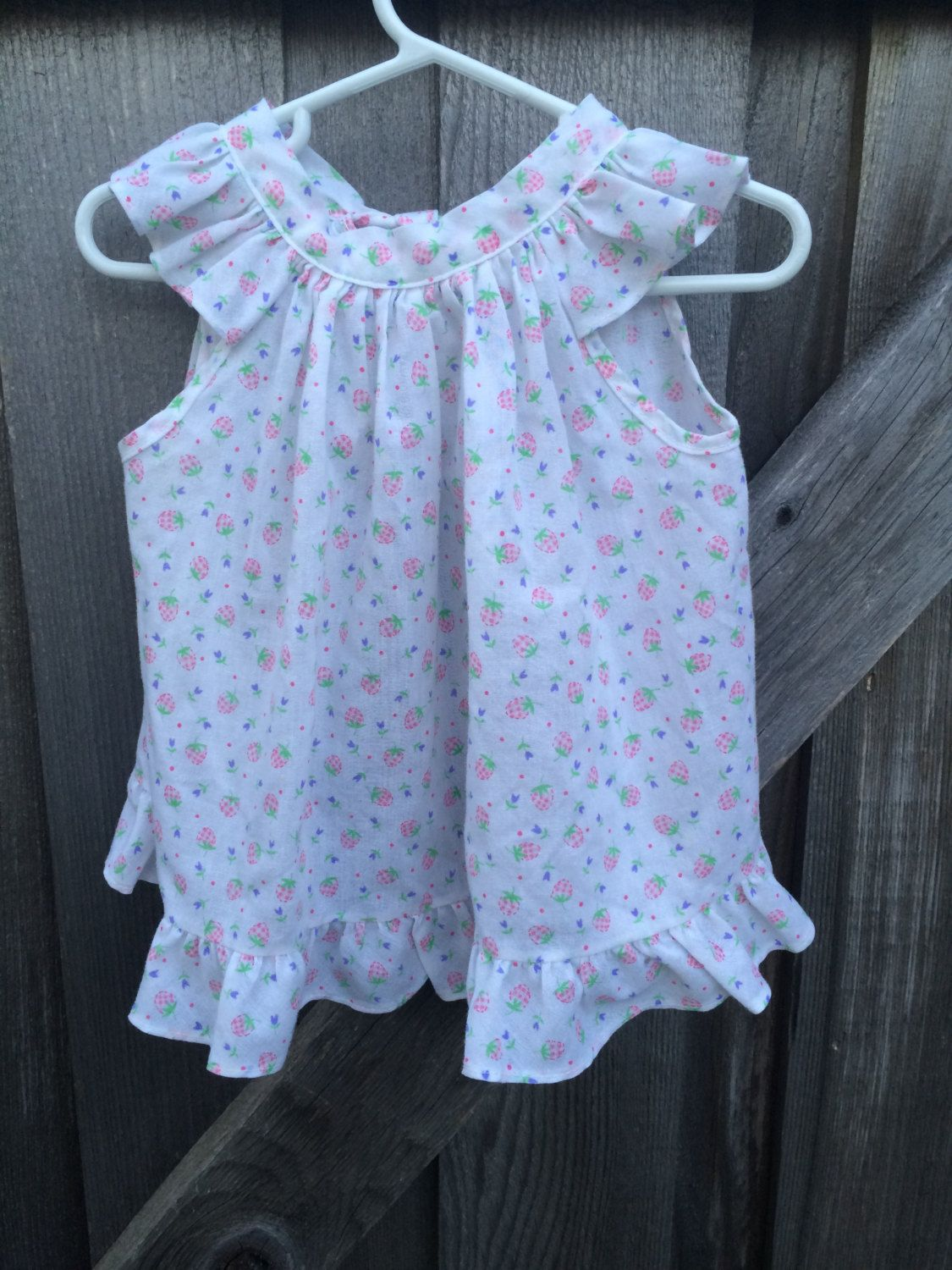 Strawberry Dress 12/18 Months by lishyloo on Etsy