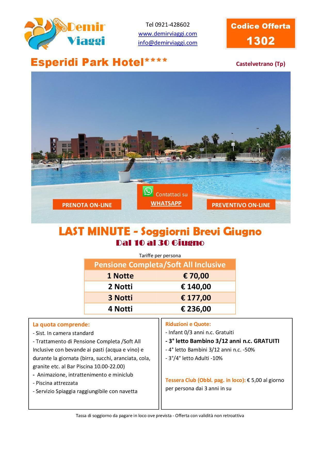 Esperidi Park Hotel**** - Castelvetrano (Tp) Last Minute ...