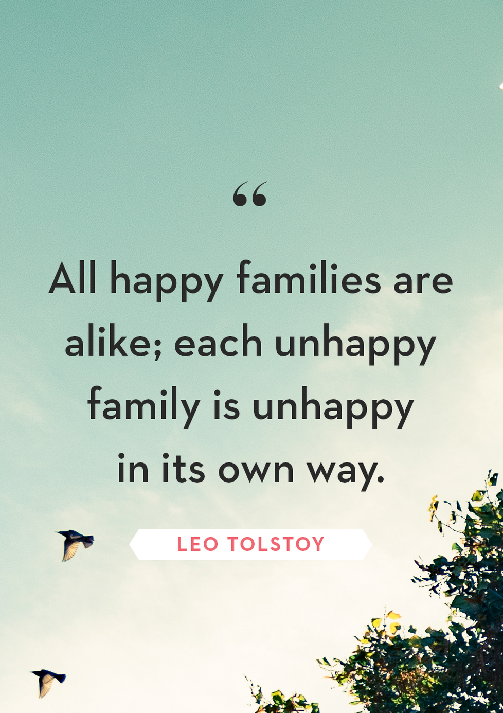 """Inspirational Family Quotes is """"All happy families are"""