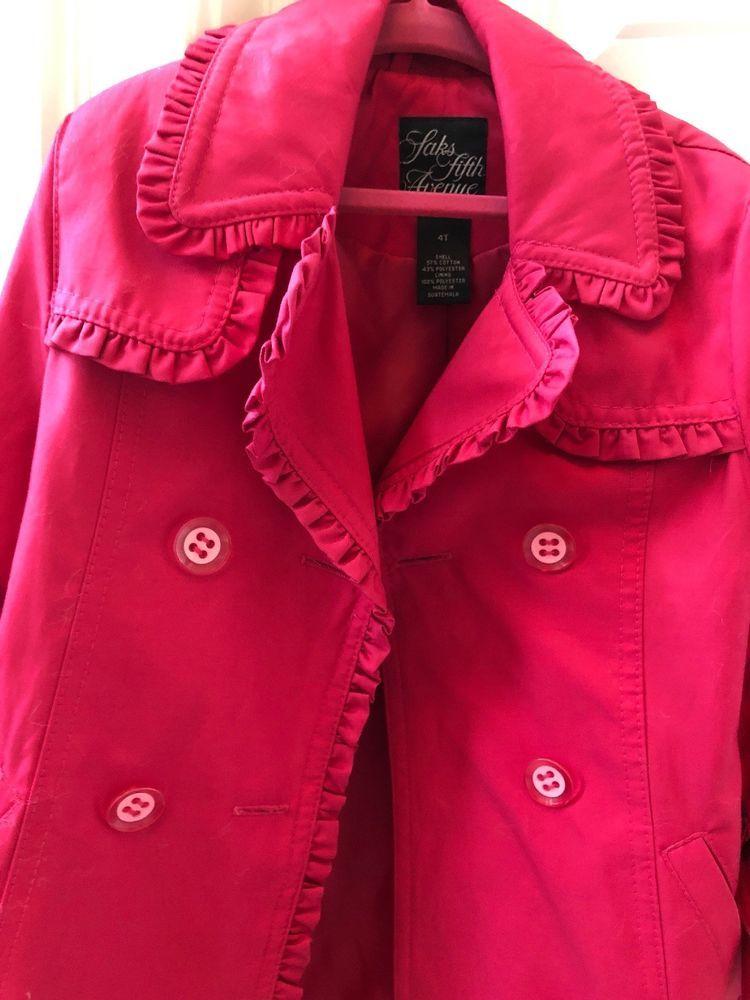 2fc323542006f Saks Fifth Avenue Hot Pink Girls Coat 4T  fashion  clothing  shoes   accessories  kidsclothingshoesaccs  girlsclothingsizes4up (ebay link)