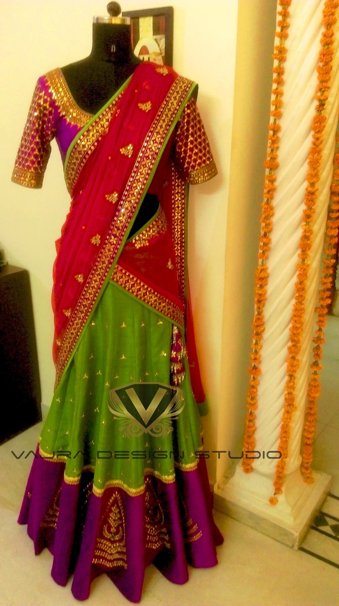 Half saree blouse design pin by devshri on lehenga  pinterest  half saree saree and