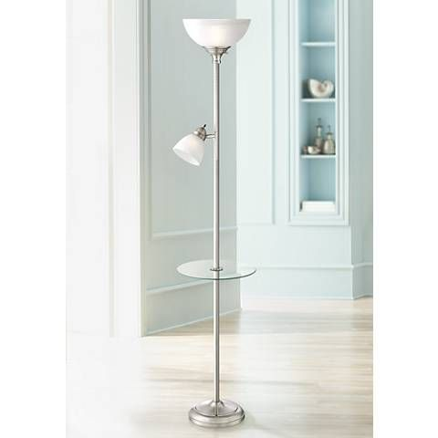 London Torchiere Floor Lamp With Table And Reading Light 9k251