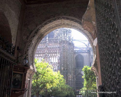 #Sevilla capital - Puerta del Perdón y Patio de los Naranjos GPS 37.386667, -5.993056. Por su monumentalidad es la mayor catedral del país y además uno de los primeros edificios de todo el mundo cristiano, ocupando una superficie superior a las 2 Has.