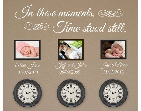 Personalised In This Moment Time Stood Still Vinyl Sticker Wall In These Moments