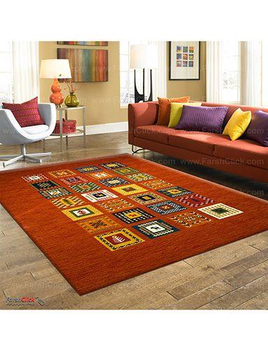 فرش مدرن طرح گبه ماشینی نمایندگی فروش فرش ساوین عرضه در