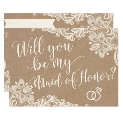 Will you be my maid of honor proposal request card maids wedding invitation cards stopboris Choice Image