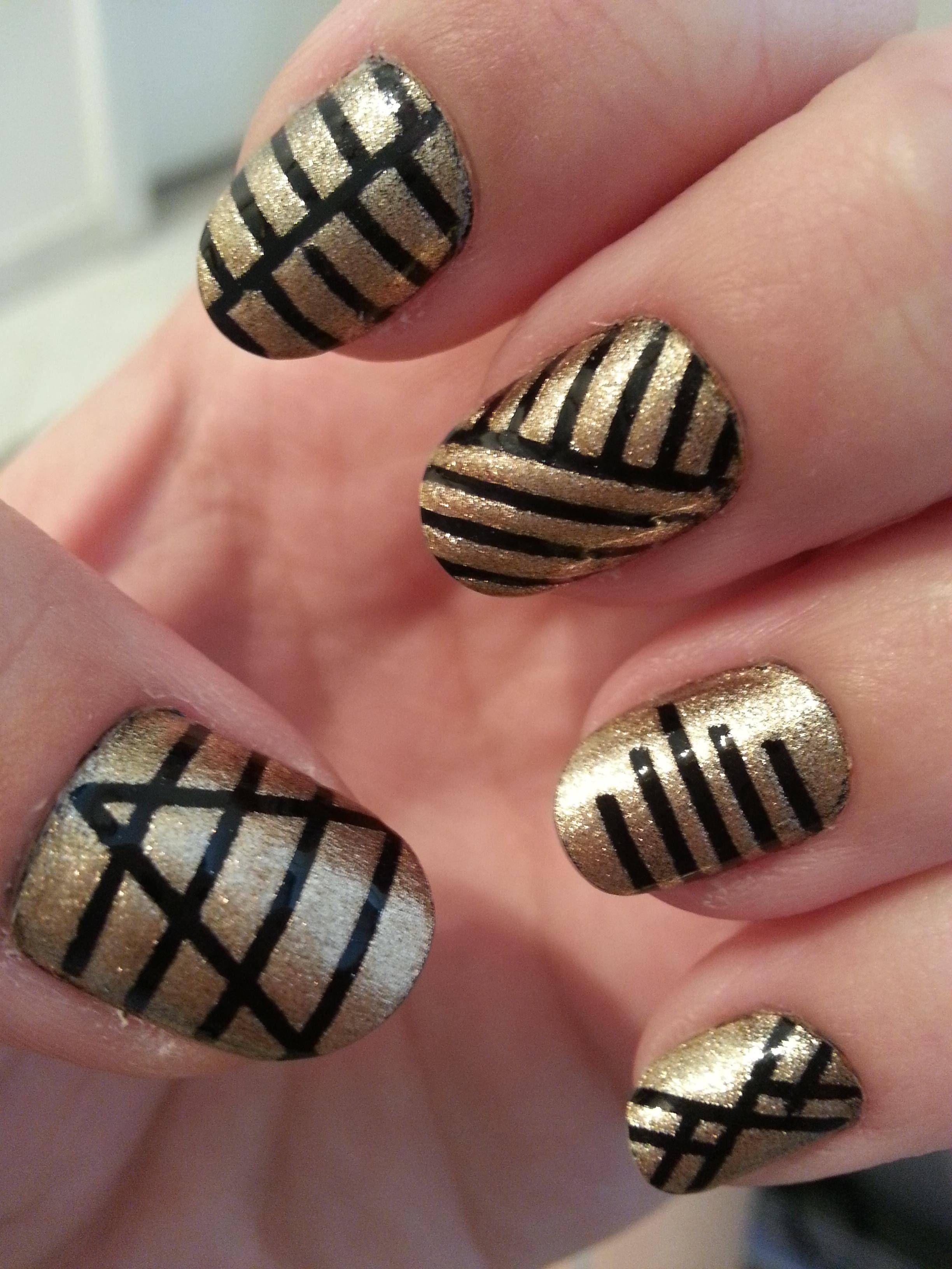 Great use of striping tape nail desighns cute nails