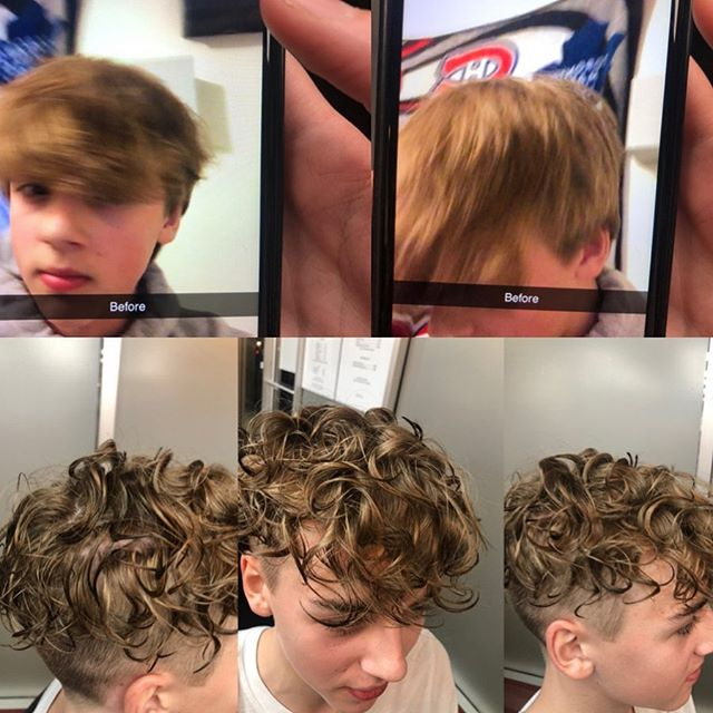 Sheelan On Instagram Before And After Perm On A 13 Year Old Boy Mohamadsbarber Perm Ha In 2020 Boy Hairstyles Permed Hairstyles Perm