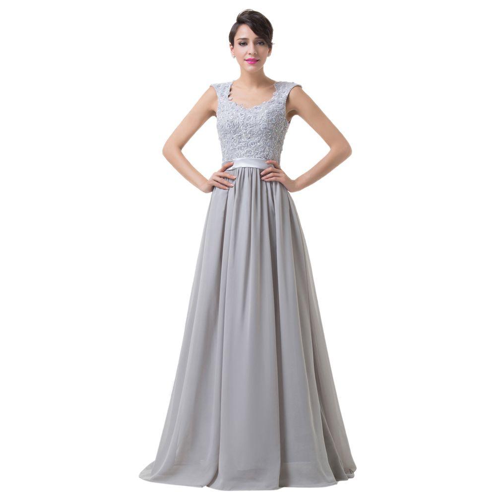 Barato elegante stock apliques de vestidos de dama de honra