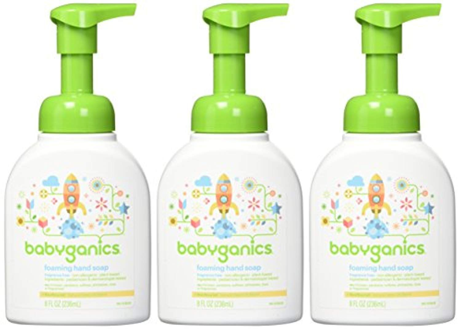 Babyganics Foaming Hand Soap Fragrance Free 8 Oz Pump Bottle