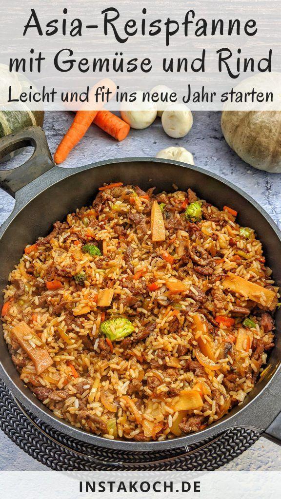 Asiatische Reispfanne mit Gemüse