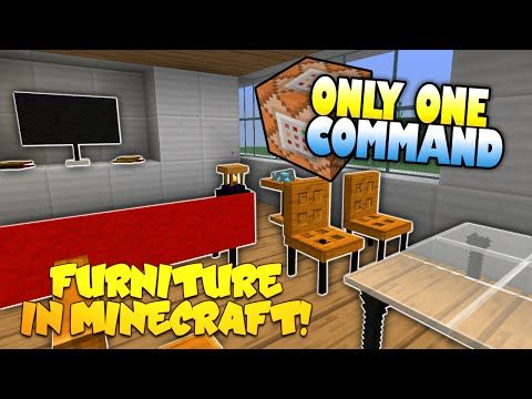 ▷ furniture in minecraft | no mods! | only one command block (one