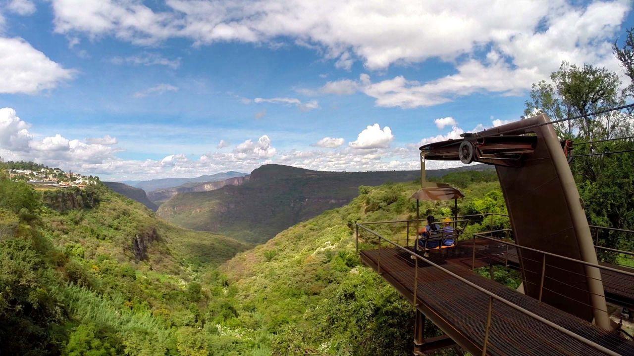 Vista de uno de los miradores en Barranca de Huentitán