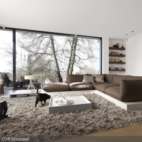 langflorteppich und sofa auf podest wohnen pinterest m bel f rs wohnzimmer klassische. Black Bedroom Furniture Sets. Home Design Ideas
