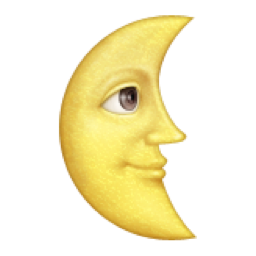 Last Quarter Moon With Face Emoji U 1f31c In 2020 Moon Face Moon Emoji Emoji