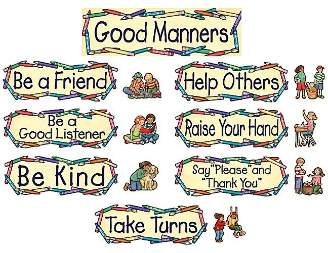 Good Manners Mini Bulletin Board from Susan Winget – Good Manners Worksheets