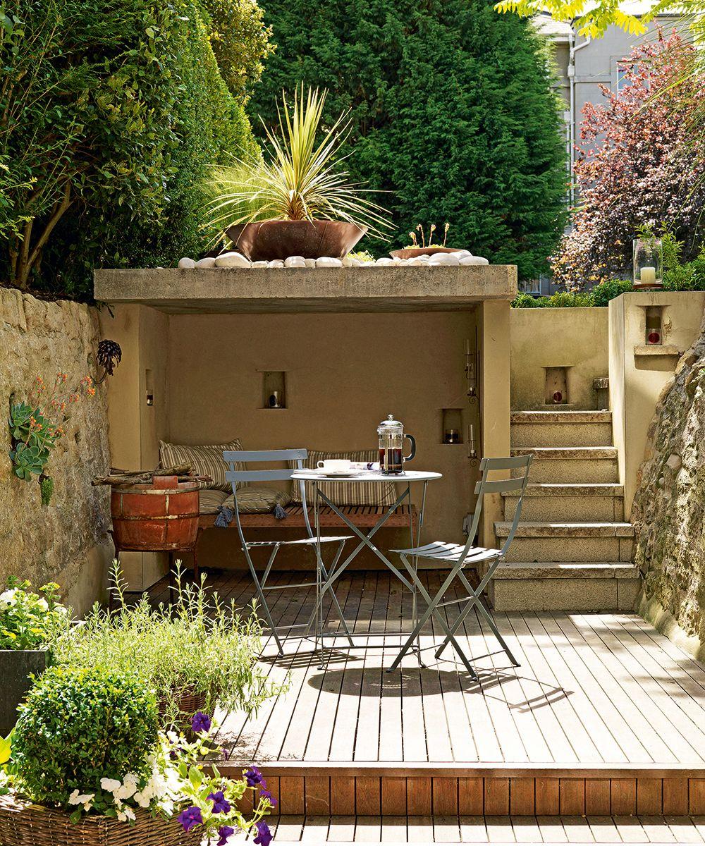 Small Garden Ideas Small Garden Designs Homes Gardens Small Backyard Gardens Patio Garden Ideas Uk Backyard Landscaping Designs