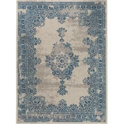 Photo of benuta carpet Antique beige / blue 240×340 cm – Vintage carpet in the used look benuta