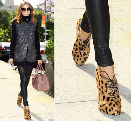 olivia palermo leopard booties  - NEED