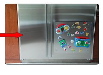 Magnetic Board For Stainless Steel Fridge Easy To Hang And Remove With Suction Cups