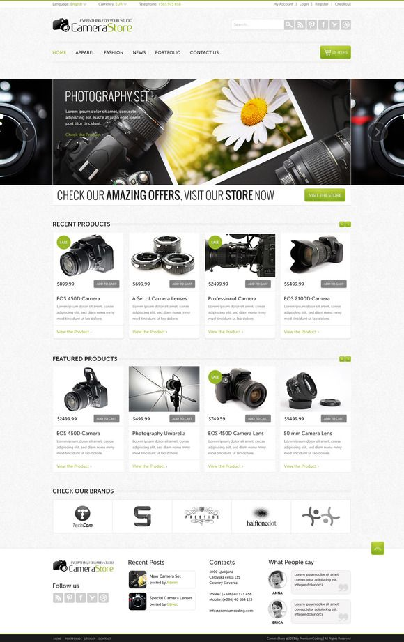 Camy - Ecommerce Website Template
